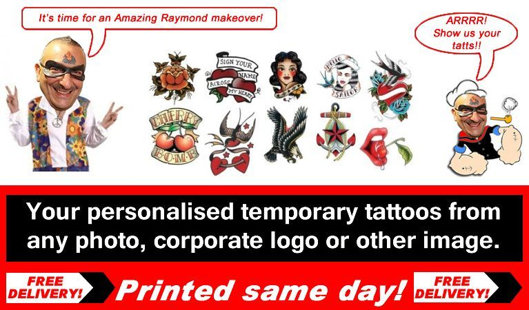 Amazing Raymond Temporary tattoos is the Origianl best and most innovative Tattoo Artist today. Selling from opur online shop we have developed formulas and hi tech equipment enabling is to be able to print your tattoos same day and send out with free delivery