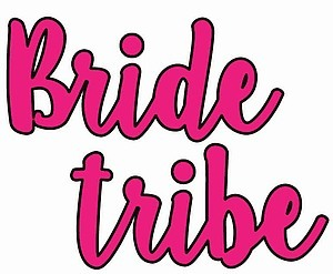Hot Pink Bride Tribe Temporary  Tattoos