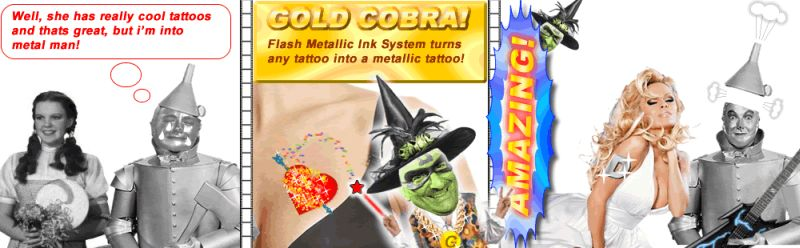 Amazing Temporary Tattoos Flash Metallic Body Art Fashion Tattoos