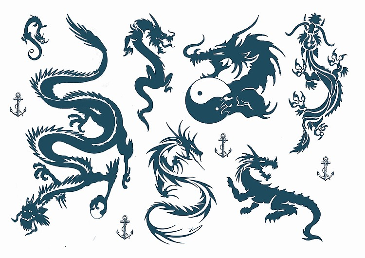 Dragon Temporary Tattoos Australia Fake Henna Tattoo
