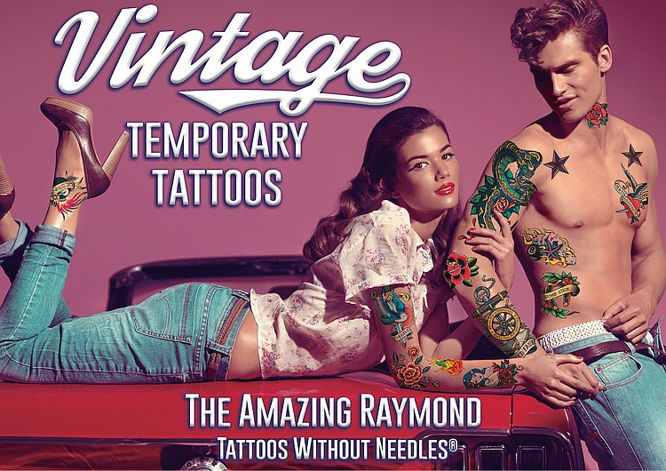 Vintage Temporary Tattoos from The Amazing Raymond